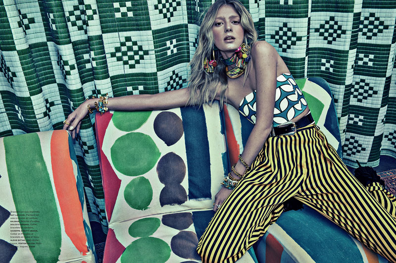 SebastianKimNumero7 Sigrid Agren Models Bold Prints for Numéro #142 by Sebastian Kim