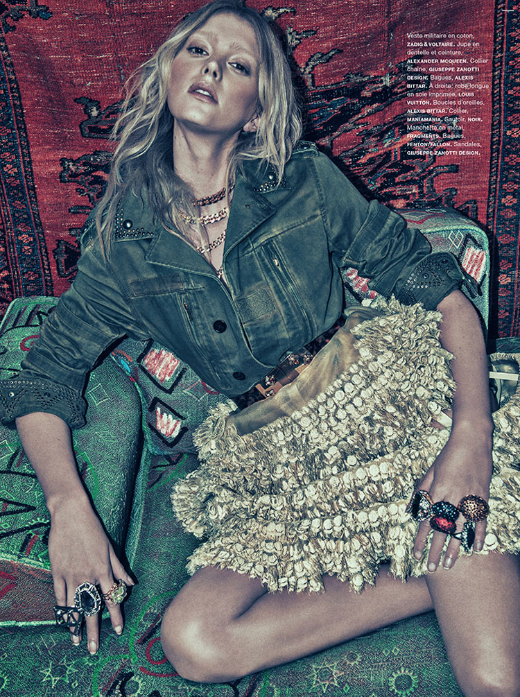 SebastianKimNumero8 Sigrid Agren Models Bold Prints for Numéro #142 by Sebastian Kim