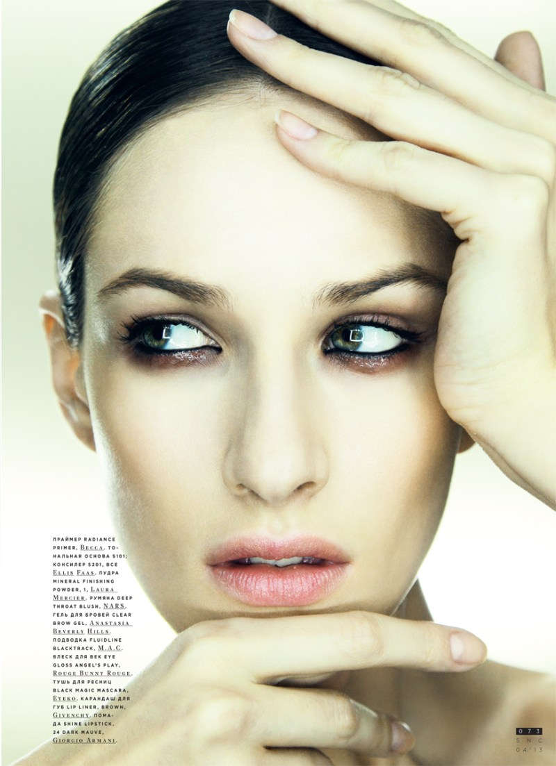 SnCBeauty5 Maria Kashleva Gets Up Close and Personal with Nikolay Biryukov for SnC April 2013