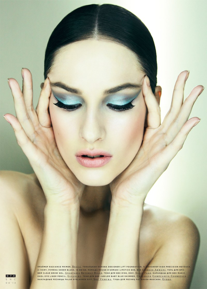 SnCBeauty6 Maria Kashleva Gets Up Close and Personal with Nikolay Biryukov for SnC April 2013