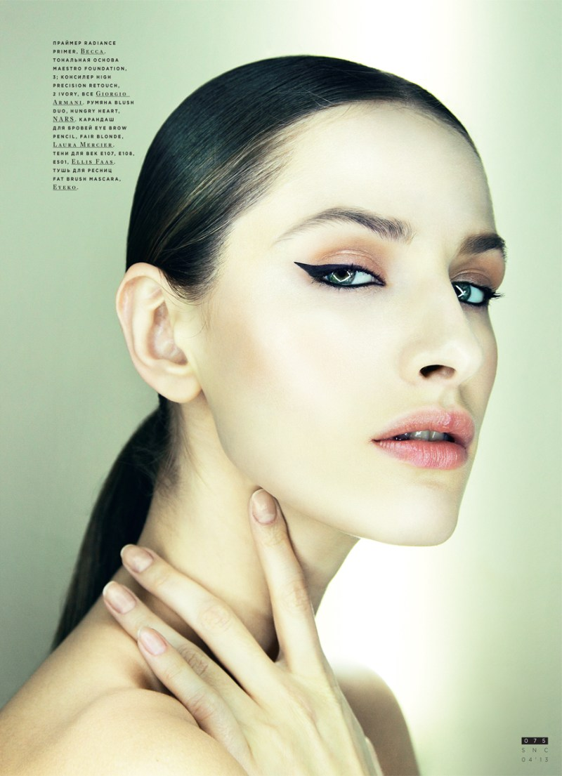 SnCBeauty7 Maria Kashleva Gets Up Close and Personal with Nikolay Biryukov for SnC April 2013