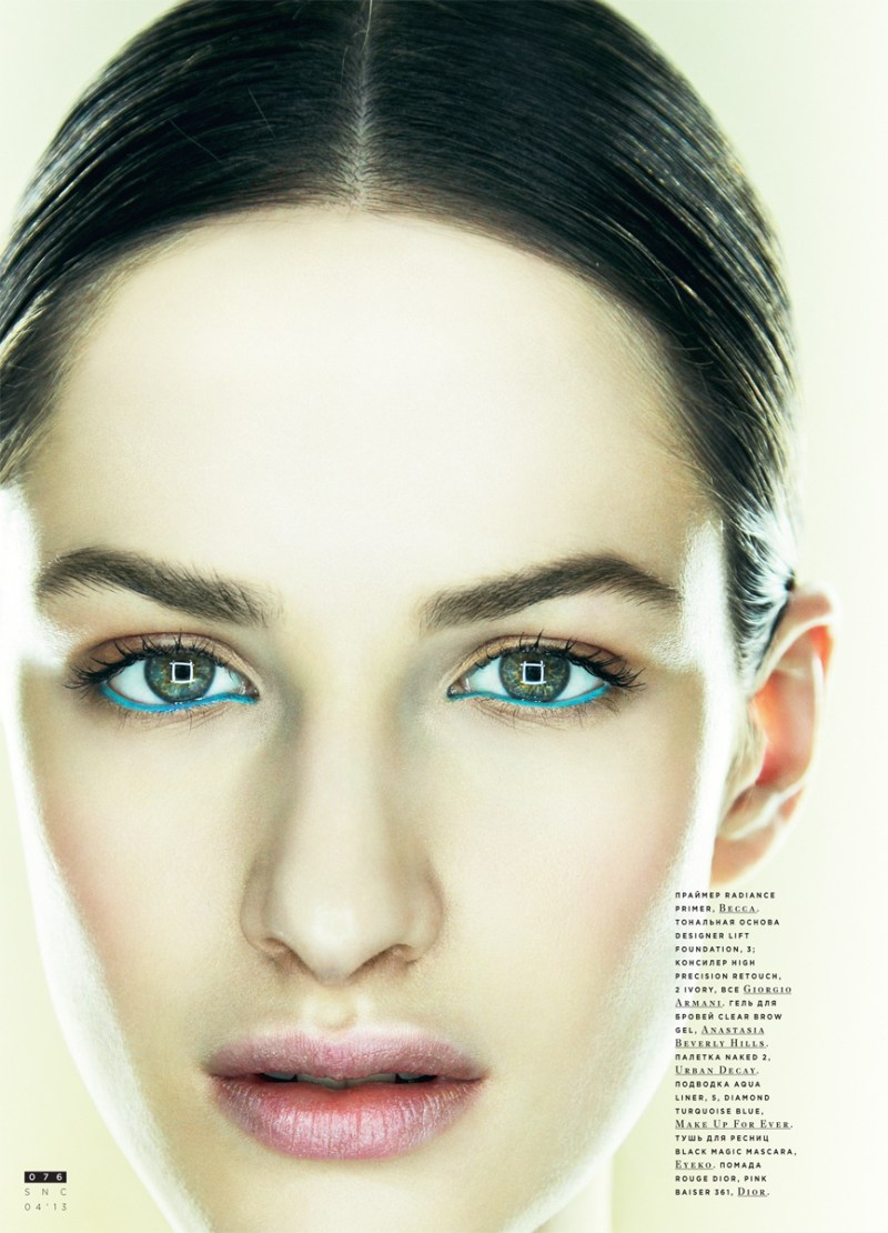 SnCBeauty8 Maria Kashleva Gets Up Close and Personal with Nikolay Biryukov for SnC April 2013