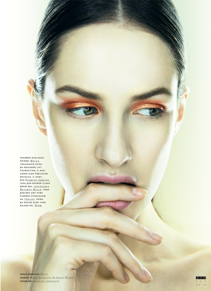 SnCBeauty9 Maria Kashleva Gets Up Close and Personal with Nikolay Biryukov for SnC April 2013