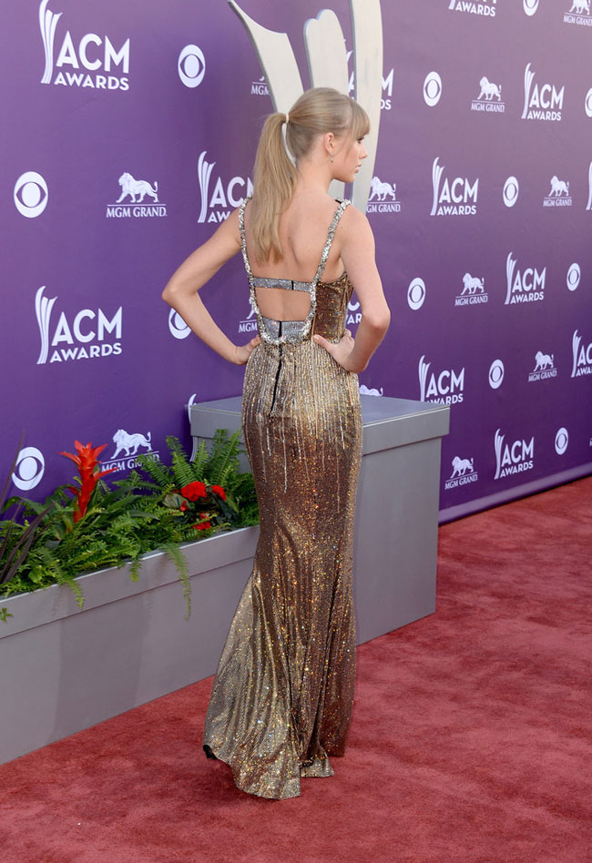 Taylor Dolce3 Taylor Swift Shines in Dolce & Gabbana at the 48th Annual Academy of Country Music Awards