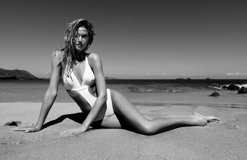 ToniGarrnMadame2 Toni Garrn Hits the Beach for Madame Figaro April 2013 Cover Story by Nico