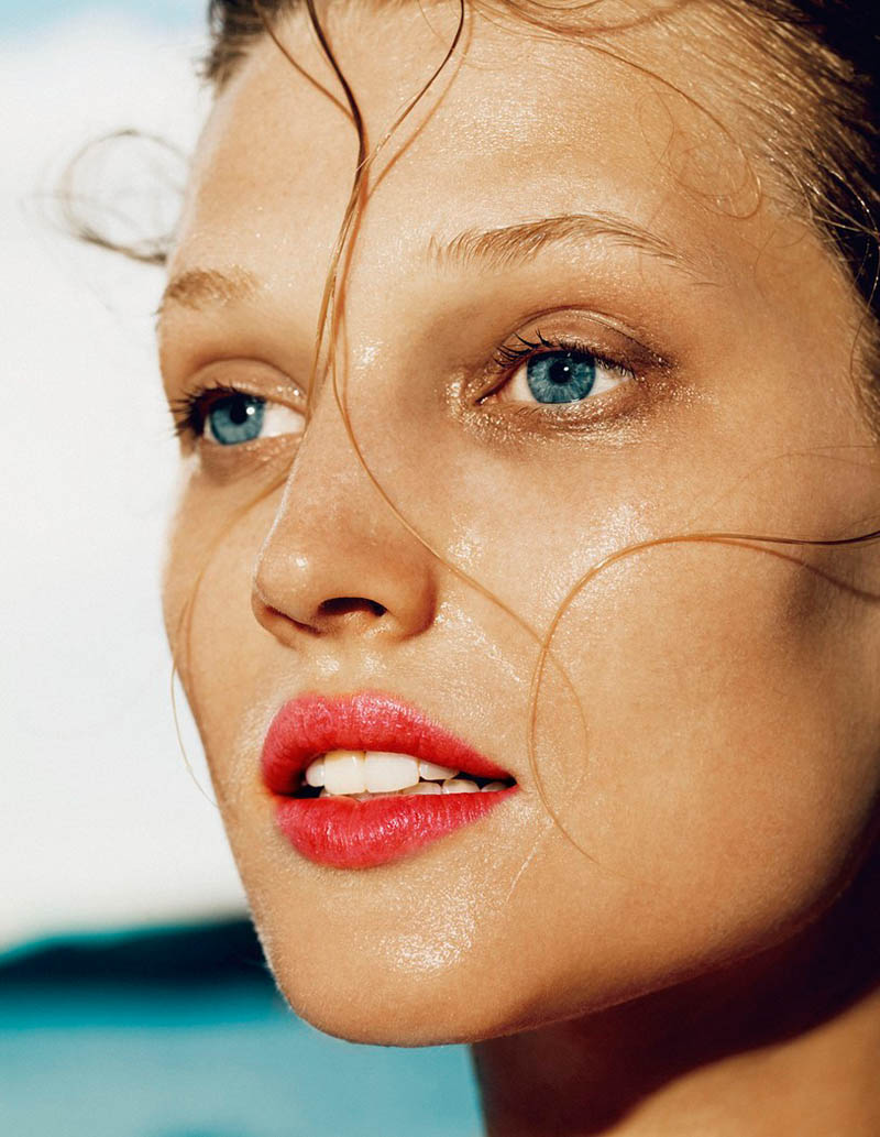 ToniGarrnMadame4 Toni Garrn Hits the Beach for Madame Figaro April 2013 Cover Story by Nico