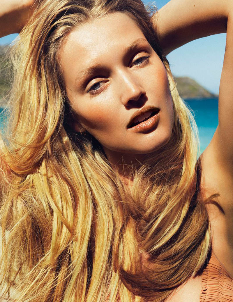 ToniGarrnMadame9 Toni Garrn Hits the Beach for Madame Figaro April 2013 Cover Story by Nico