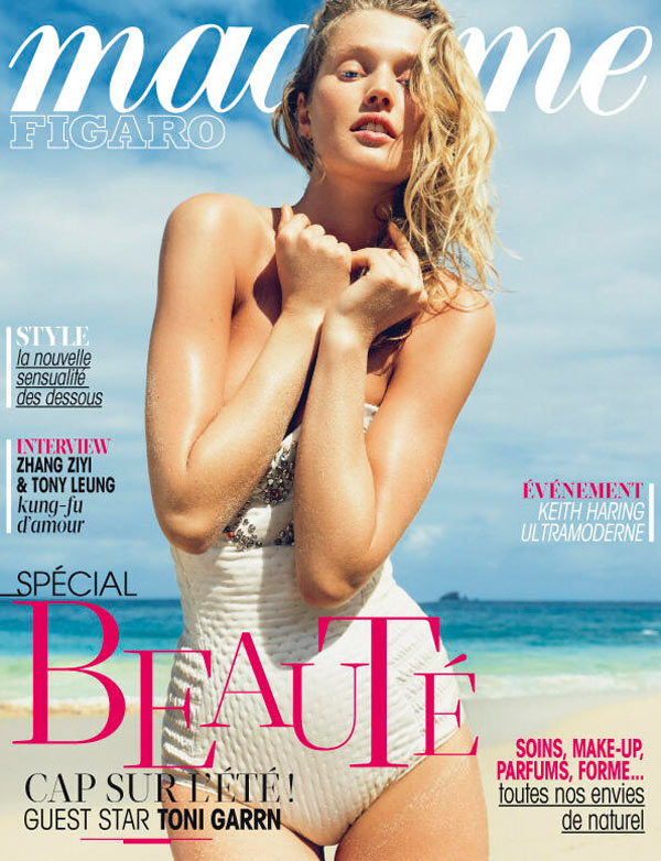 ToniMadameFigaro Toni Garrn Hits the Beach for Madame Figaro April 2013 Cover Story by Nico