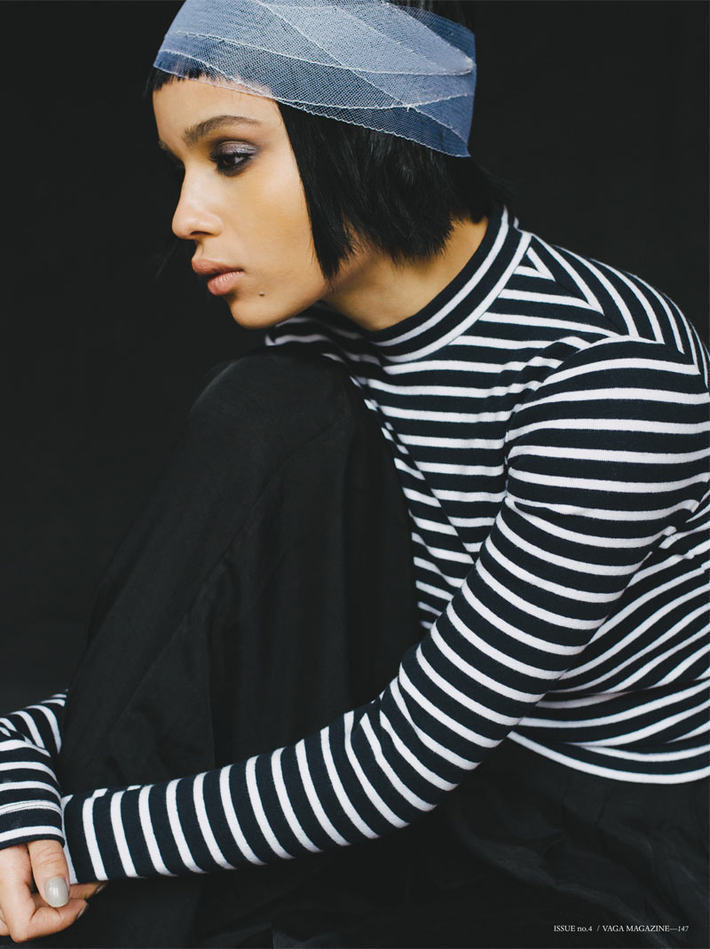VagaZoeKravitz3 Zoe Kravitz Stars in the Pages of Vaga Magazine #4