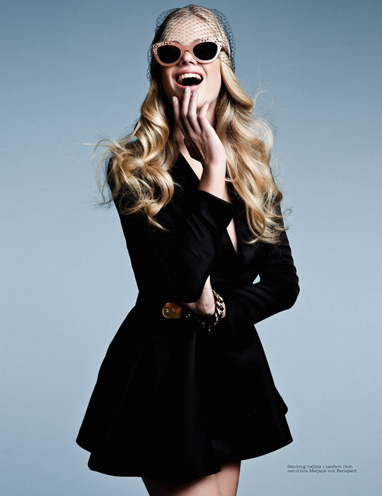 ValerieElle1 Valerie Van Der Graaf Poses for Conny Kirste in Elle Serbia May 2013