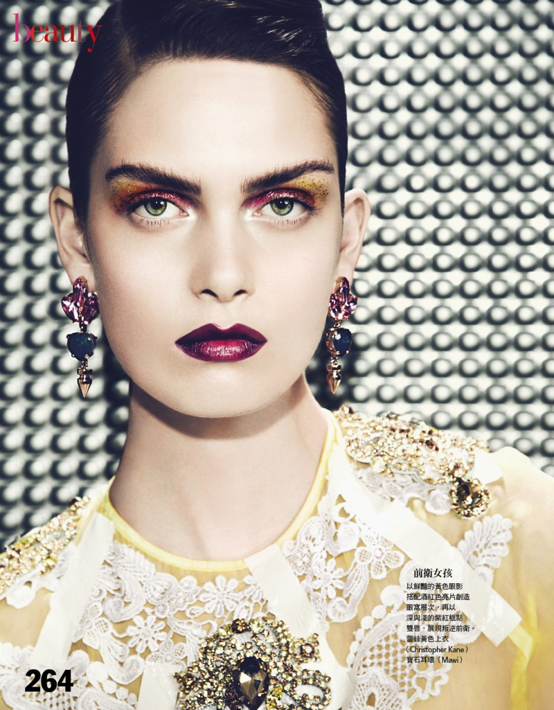 VogueTaiwan3 Maria Palm Gets Painted for Vogue Taiwan April 2013 by Yossi Michaeli