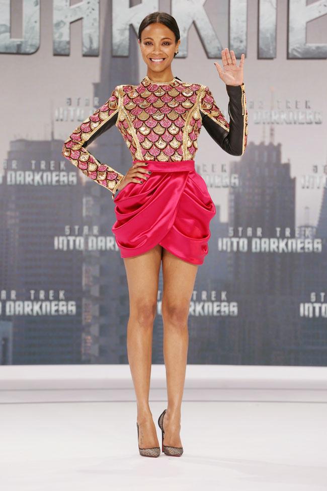 Zoe Saldana Calvin Klein Star Trek