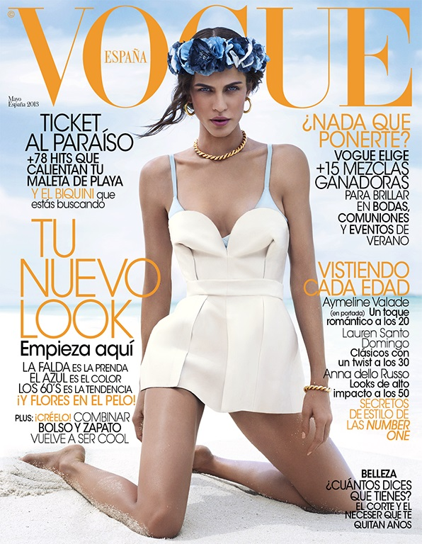 aymeline valade vogue spain cover Aymeline Valade Graces Vogue Spain May 2013 Cover