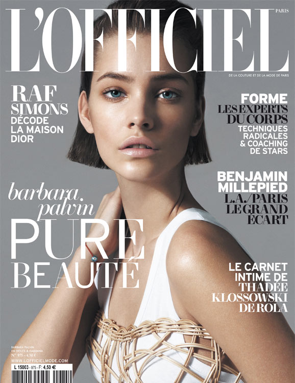 barbara palvin lofficiel paris Barbara Palvin Graces LOfficiel Paris May 2013 Cover in Dolce & Gabbana