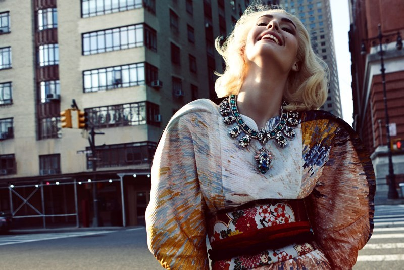 camilla akrans vogue japan1 Nadja Bender Dons Ornate Looks for Vogue Japan April 2013 by Camilla Akrans