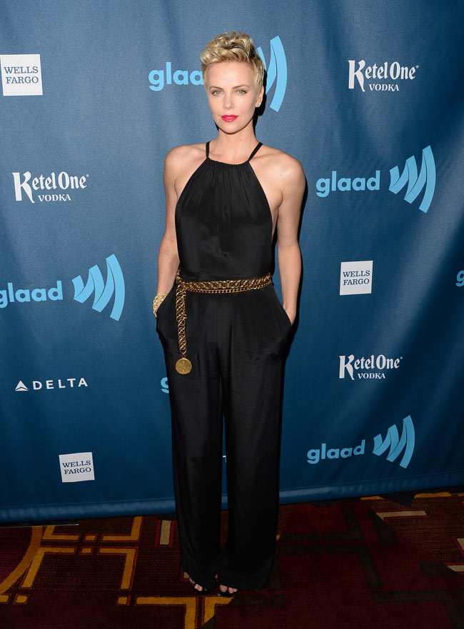 charlize theron2 Charlize Theron Dons Jason Wu at the 24th Annual GLAAD Media Awards