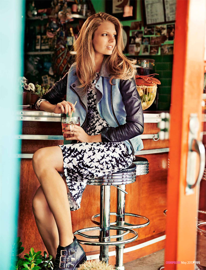 cosmoprints6 Evgenia Sizanyuk Poses for Steven Chee in Cosmopolitan Australia May 2013