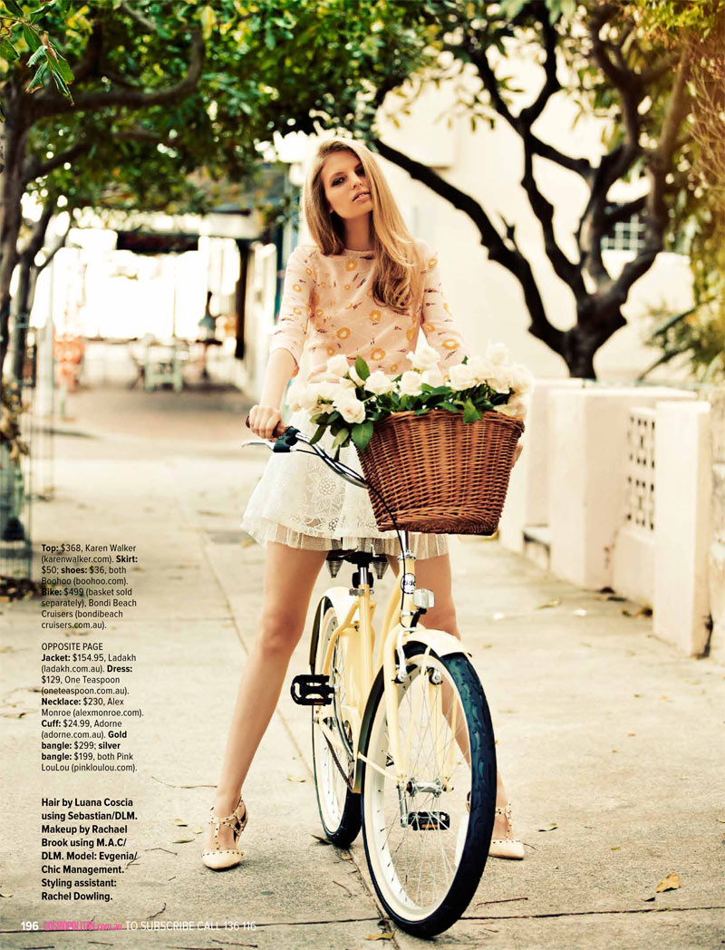 cosmoprints7 Evgenia Sizanyuk Poses for Steven Chee in Cosmopolitan Australia May 2013