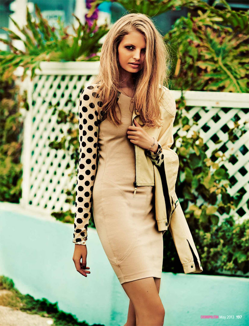 cosmoprints8 Evgenia Sizanyuk Poses for Steven Chee in Cosmopolitan Australia May 2013