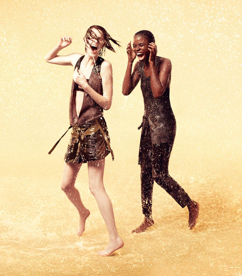 eduncampaign7 Ryan McGinley Shoots Jeneil Williams, Julia Frauche And Ashleigh Good For EDUN Spring 2013 Campaign