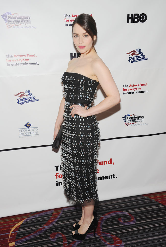 emilia clarke dior1 Emilia Clarke Dazzles in Dior at the 2013 Actors Funds Annual Gala in NYC