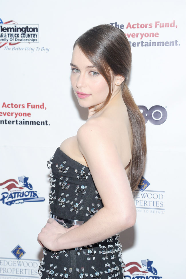 emilia clarke dior3 Emilia Clarke Dazzles in Dior at the 2013 Actors Funds Annual Gala in NYC