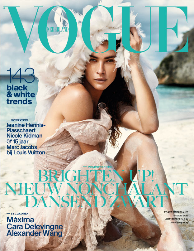 Erin Wasson Hits the Beach for Vogue Netherlands' May 2013 Cover