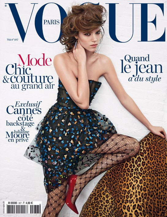 freja beha erichsen vogue paris Freja Beha Erichsen Covers Vogue Paris May 2013 in Dior Haute Couture