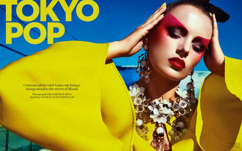 gabor jurina tokyo pop1 Karina Gubanova is Tokyo Glam for Fashion May 2013 by Gabor Jurina