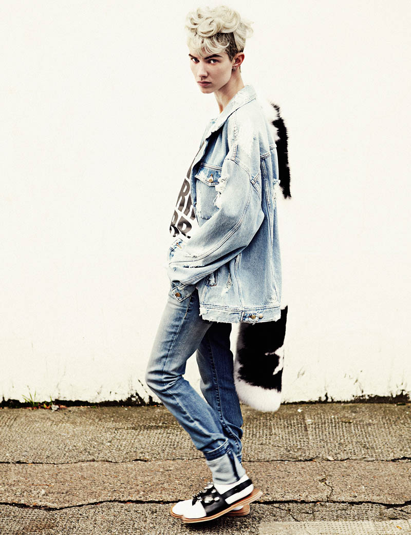 harmony boucher4 Harmony Boucher Gets Denim Clad for Hunger Magazine S/S 2013 by Toby Knott