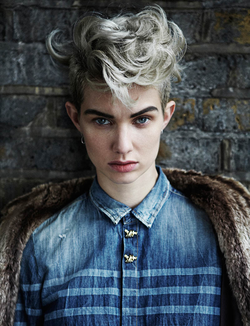 harmony boucher6 Harmony Boucher Gets Denim Clad for Hunger Magazine S/S 2013 by Toby Knott