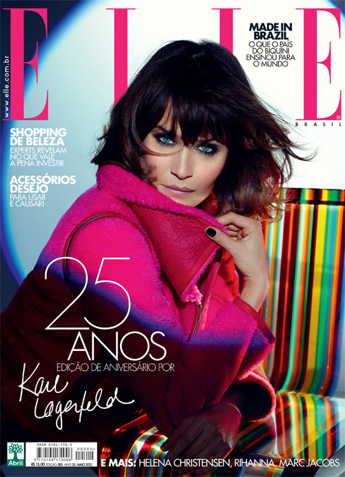 helena christensen lagerfeld elle brazil Helena Christensen Covers Elle Brazils 25th Anniversary Issue by Karl Lagerfeld