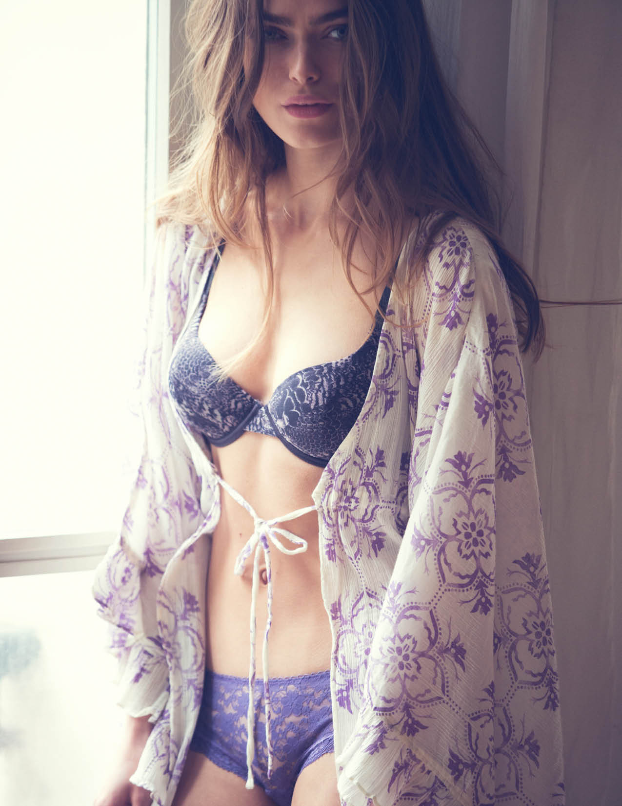 intimates10 Sophie Vlaming Poses in Paris For Free Peoples Intimates Journal by David Bellemere