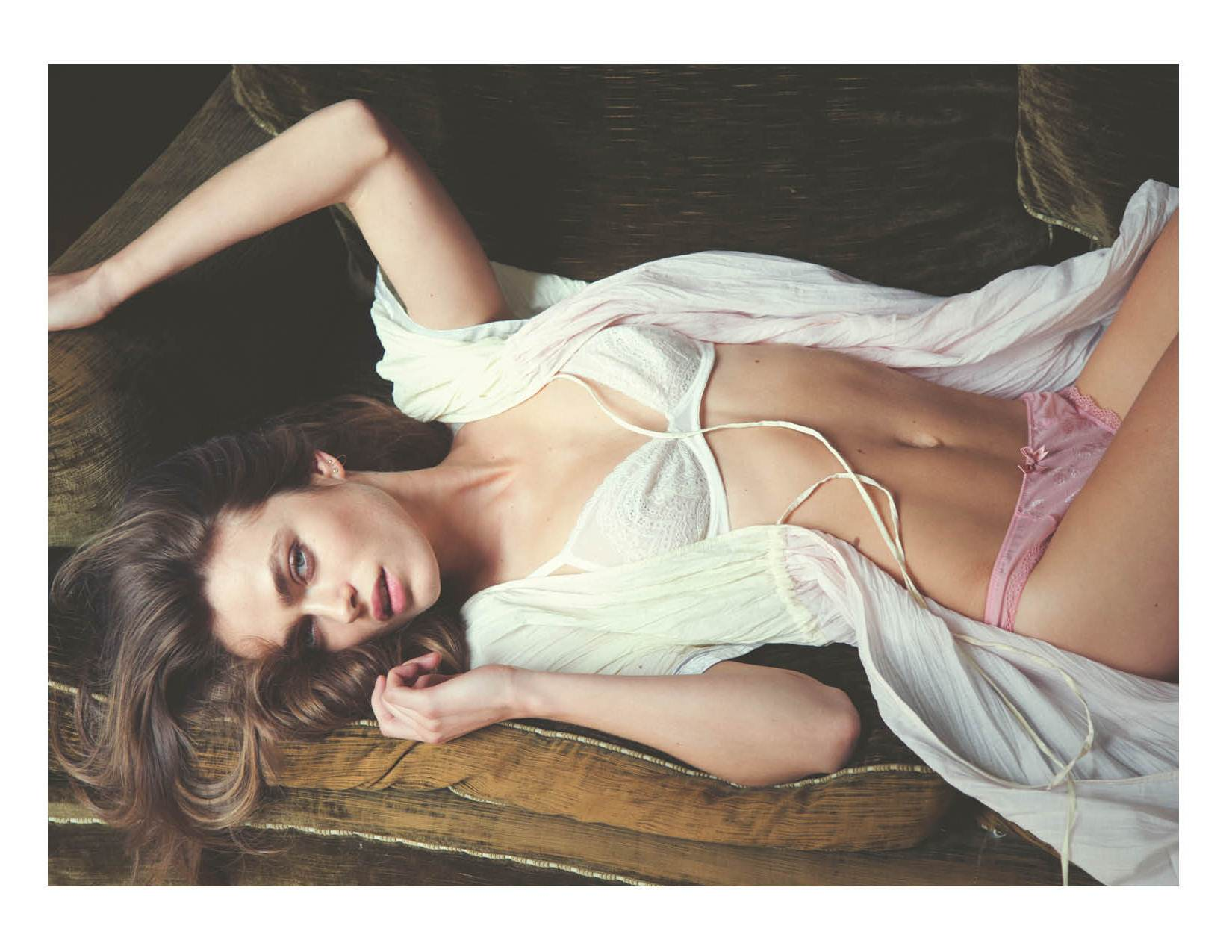 intimates12 Sophie Vlaming Poses in Paris For Free Peoples Intimates Journal by David Bellemere