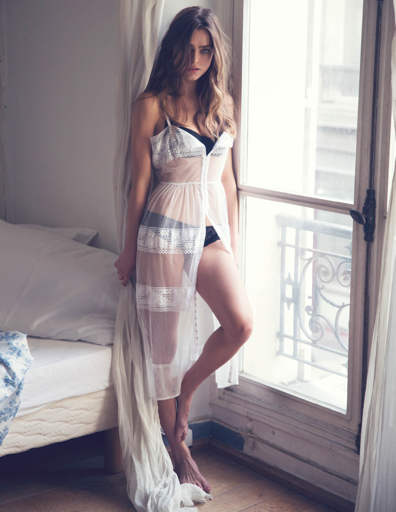 intimates2 Sophie Vlaming Poses in Paris For Free Peoples Intimates Journal by David Bellemere