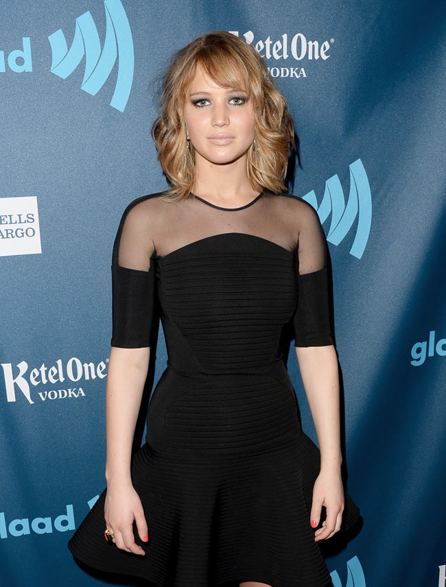 jennifer lawrence david koma2 Jennifer Lawrence Steps Out in David Koma at the 24th Annual GLAAD Media Awards