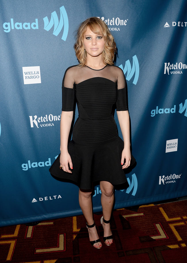 jennifer lawrence david koma3 Jennifer Lawrence Steps Out in David Koma at the 24th Annual GLAAD Media Awards