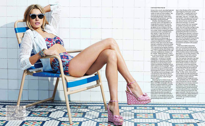 jessica hart7 Jessica Hart Poses Poolside for Eric Guillemain in Foams June 2013 Cover Shoot
