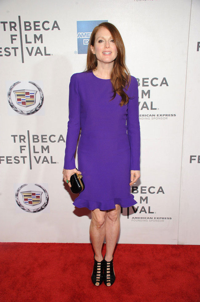 """Julianne Moore Steps Out in Alexander McQueen at """"The English Teacher"""" Premiere"""
