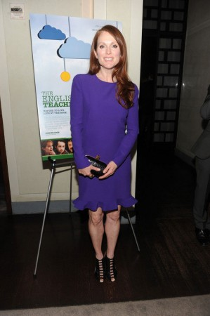 "Julianne Moore Steps Out in Alexander McQueen at ""The English Teacher"" Premiere"