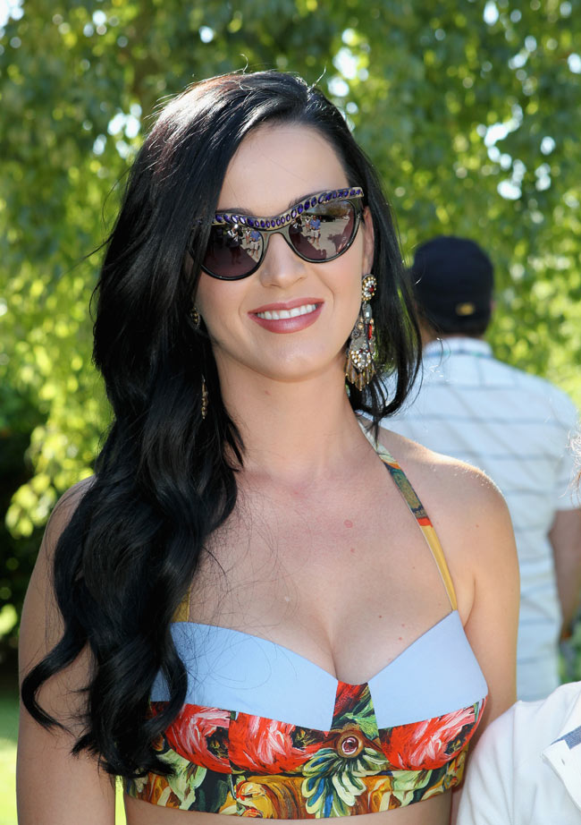 Katy Perry Dons Dolce & Gabbana at LACOSTE L!VE's 4th Annual Desert Pool Party