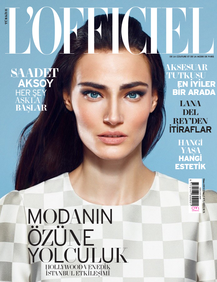 l officiel 001 cover Saadet Aksoy Stars in LOfficiel Turkey April 2013 Cover Shoot by Emre Guven