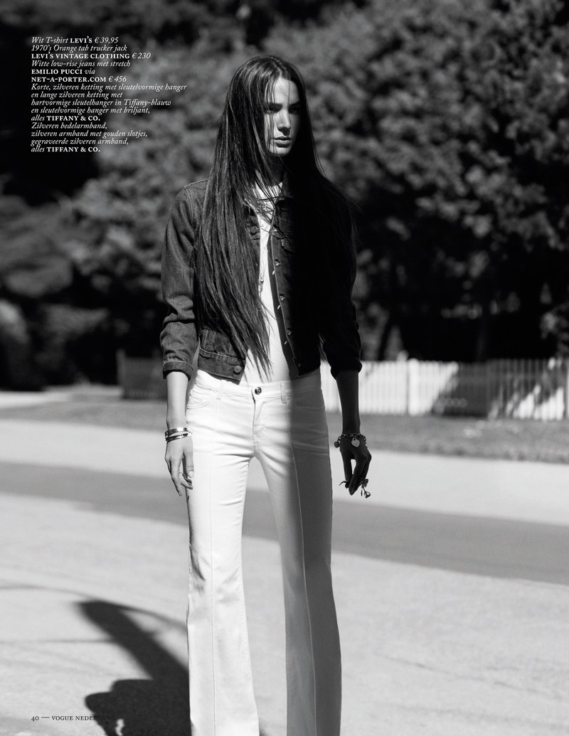 marc de groot denim10 Mijo Mihaljcic Gets Denim Clad for Vogue Netherlands May 2013 by Marc de Groot