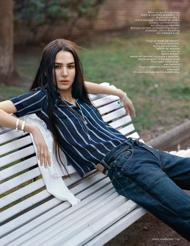 marc de groot denim11 Mijo Mihaljcic Gets Denim Clad for Vogue Netherlands May 2013 by Marc de Groot
