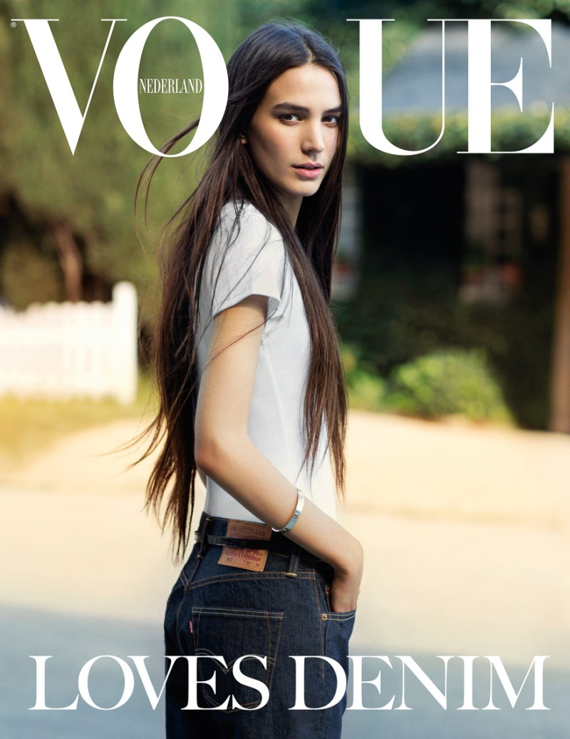 marc de groot denim12 Mijo Mihaljcic Gets Denim Clad for Vogue Netherlands May 2013 by Marc de Groot