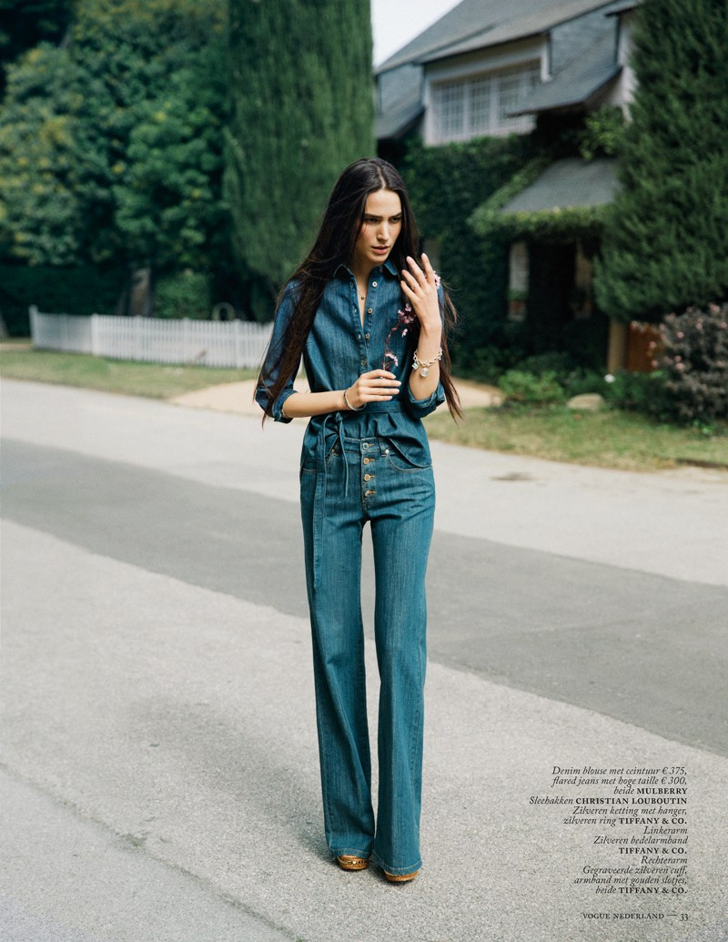 marc de groot denim4 Mijo Mihaljcic Gets Denim Clad for Vogue Netherlands May 2013 by Marc de Groot