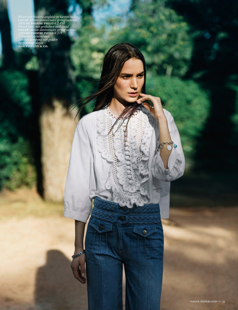 marc de groot denim6 Mijo Mihaljcic Gets Denim Clad for Vogue Netherlands May 2013 by Marc de Groot