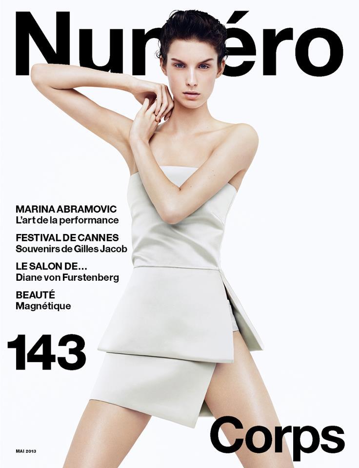 marte haaster numero cover Marte Mei Van Haaster Covers Numéro #143 in Prada
