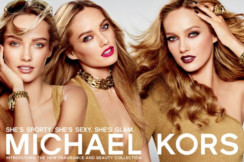 Karmen Pedaru Fronts Michael Kors' Beauty Campaign by Mario Testino