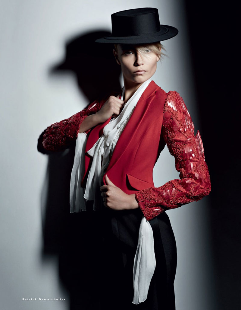 natasha poly vogue russia10 Natasha Poly Models Spanish, Flamenco Style for Vogue Russia May 2013 by Patrick Demarchelier